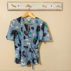 Monteau Blue Floral Top